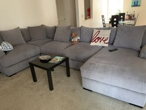 OFFERS ACCEPTED- Gray soft cloth L shaped couch from Macy's for Sale in Concord, CA