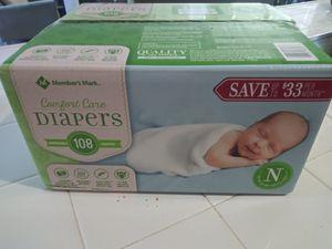 Newborn diapers box #108 💲💲13 for Sale in Sacramento, CA