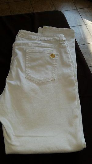 Michael kors izzy skinny white Jean. Size 16 for Sale in Reedley, CA