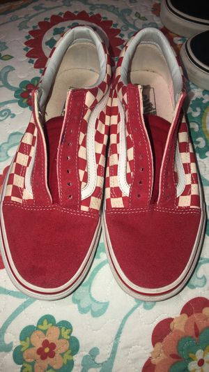 Red checker vans for Sale in Montebello, CA