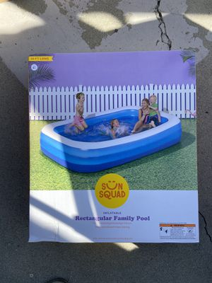 "10' X 22"" Deluxe Rectangular Family Inflatable Above Ground Pool - Sun Squad™ for Sale in Carson, CA"