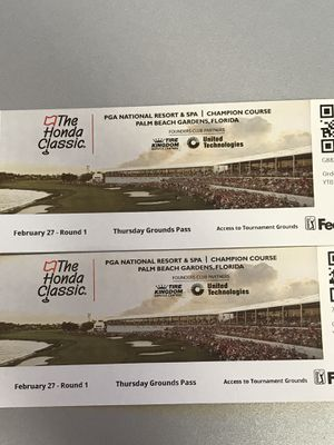 Honda Classic Tickets - Thursday Grounds $20 for Sale in Boca Raton, FL