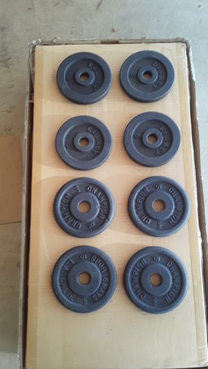 8×5lbs weights for Sale in Beaumont, CA