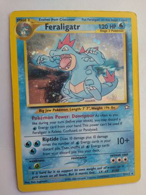 FERALIGATR HOLO RARE POKEMON CARD NEO GENESIS SET ORIGINAL COLLECTION 5/111 FOIL for Sale in Ontario, CA