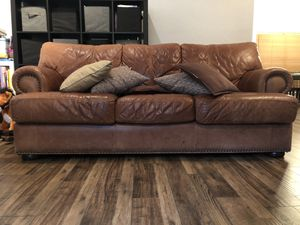 Genuine leather couch for Sale in Euless, TX