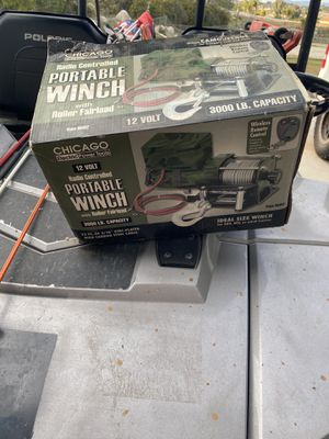 Brand new winch 3000lb with remote for Sale in Riverside, CA