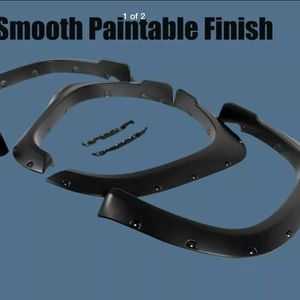 Paintable Black Fender Flares For 14-20 Toyota Tundra Pocket Rivet Smooth Set 4 for Sale in Vancouver, WA