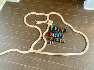 Wooden train set with Thomas trains for Sale in Mesa, AZ