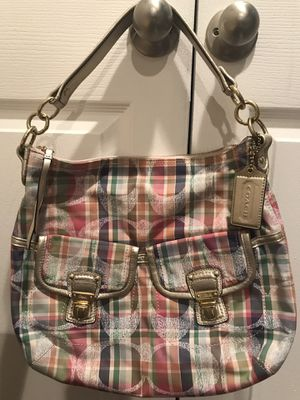 Authentic Coach Multi-colored hobo hand bag/ purse, with strap included for Sale in Baltimore, MD