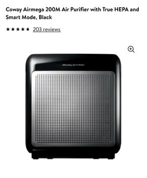 Coway Airmega 200M Air Purifier with True HEPA and Smart Mode, Black for Sale in Las Vegas, NV
