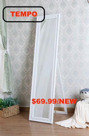Full Length Standing Mirror, White for Sale in Westminster, CA