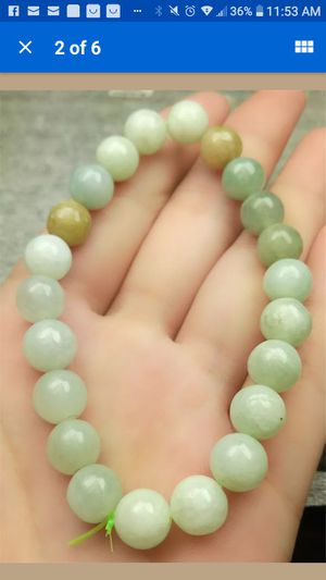 Certified multicolors bead 8mm natural jade stretchy bracelet for Sale in Richmond, CA