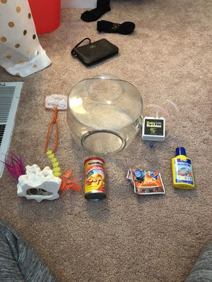 Fish tank with supplies for Sale in North Olmsted, OH