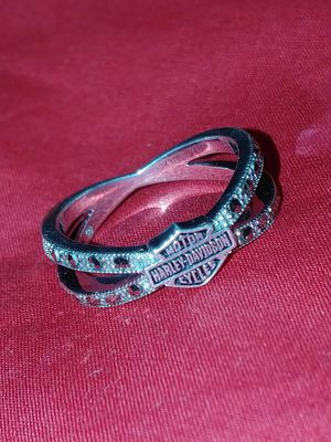 Woman's 9.25 silver Harley Davidson Diamond Ring for Sale in Hickory, NC