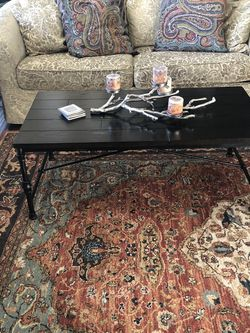 Black Coffee Table, 2 End Tables, And Sofa Table For Sale for Sale in Arvada,  CO