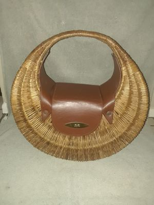 Large..Rattan with Leather..Handbag.. for Sale in Tampa, FL