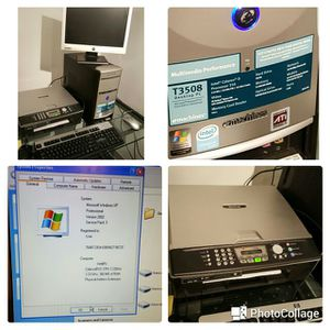 REDUCED!! Desktop computer, monitor, keyboard, mouse including brother all in one printer. for Sale in Atlanta, GA