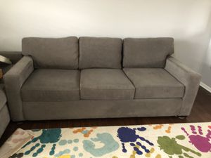 Grey love seat and sofa from Macy's for Sale in Washington, NJ