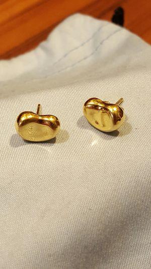 TIFFANY & Co 11.30 mm 18k Bean Stud Earrings Elsa Peretti Yellow Gold 750 for Sale in San Diego, CA