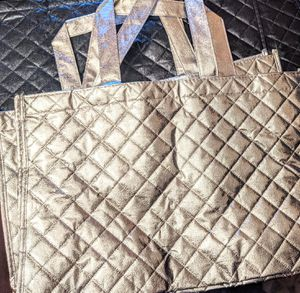 2 Metallic Silver quilted totes for Sale in Washington, DC