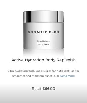 Rodan and Fields Active Hydration body Replenish for Sale in Newtown, PA