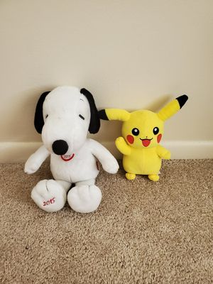 Snoopy and pokemon for Sale in MENTOR ON THE, OH