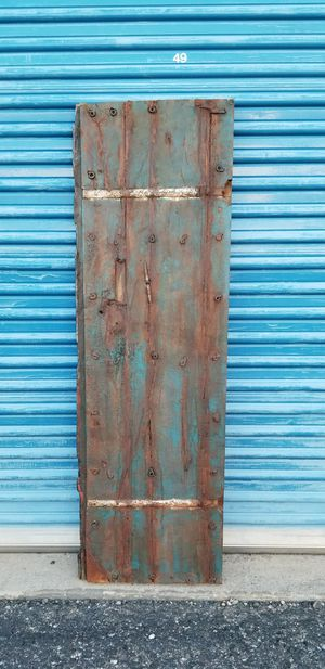 Rustic wood door wall hanging. It has 2 hooks on the back to hang on a wall. for Sale in Phoenix, AZ