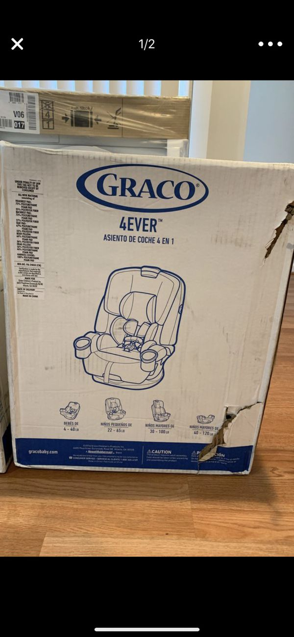 Brand new in box GRACO 4ever 4in 1 car seat Ages 1-10