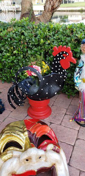 Rooster chicken Tire Rim planter garden for Sale in New Port Richey, FL