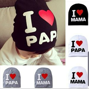 Cute Hat I LOVE MAMA PAPA Kids Baby Boy Girl Infant Cotton Beanie Cap Hats Family Day Clothes for Sale in Katy, TX