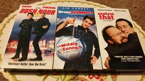 VHS Comedy Bundle: Analyze That, Bruce Almighty, Rush Hour 2 for Sale in San Bernardino, CA