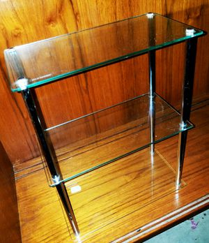 Small 3 Tier Glass & Chrome Display Shelving-Display Special Collectibles & More... for Sale in Peoria, AZ