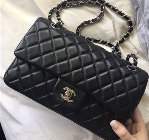 Chanel quilted calf skin flap bag medium for Sale in Chicago, IL