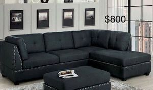 New Sectional Couch with ottoman only $50 down payment for Sale in Hawthorne, CA