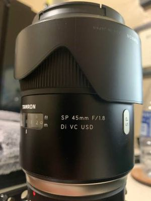 Tamron SP 45mm F/1.8 Di VC USD Lens for Canon for Sale in Westminster, CA