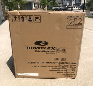 Brand New Bowflex SelectTech 552 Adjustable Dumbbells (2) for Sale in Fort Mill, SC