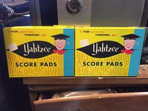 Vintage Yahtzee score pads for Sale in Buena Park, CA
