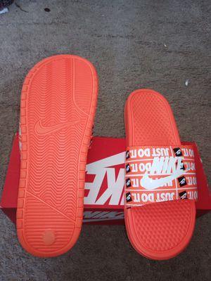 Orange Nike Benassi JDI Slide - Men's Size 11 for Sale in Monroe Township, NJ