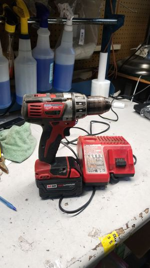 Milwaukee driver drill m18 red lithium battery for Sale in Jacksonville, FL