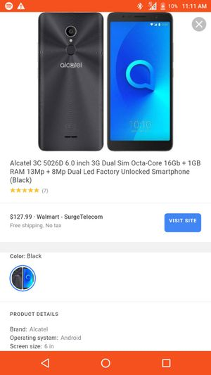 Alcatel activated w lg Bluetooth headphones for 80 metro for Sale in El Monte, CA