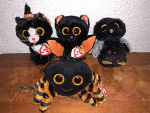 Lot of 4 TY Beanie Boos Halloween 2019 6 inch Cobb, Echo, Hyde, Witchie NEW for Sale in Miami, FL