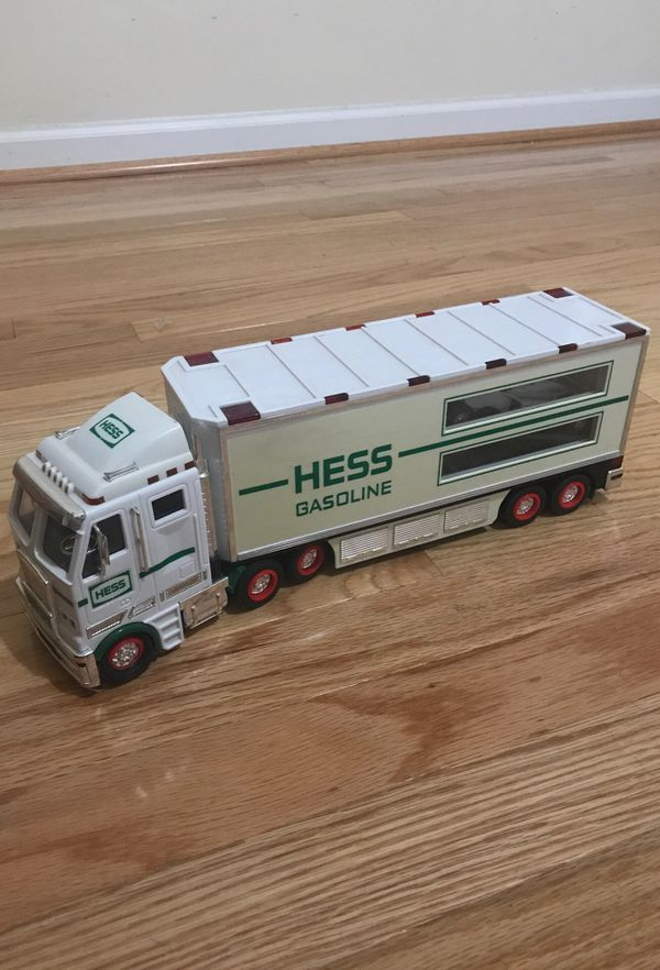 Classic Collectible Hess Gasoline Truck with race car, 2003 Edition