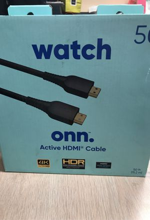 "Onn. HDMI Cable 50"" for resolution up to 4K video for Sale in Miami, FL"
