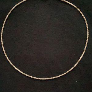 22 Inch 925 Silver' Rope Chain, Glass Cross for Sale in Modesto, CA