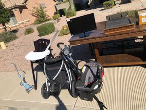 Baby items, toys, table, bench, for Sale in Mesa, AZ