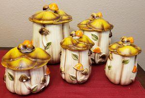 Vintage 1970's Arnel Mushroom Kitchen Canisters for Sale in Las Vegas, NV