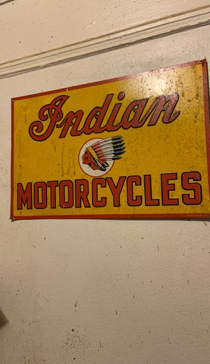 Indian motorcycle sign for Sale in Fort Lee, NJ