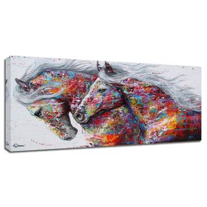 (FREE SHIPPING) Brand New Abstract Pop Art Colorful Horse Canvas Living Room Home Décor for Sale in Lansing, MI