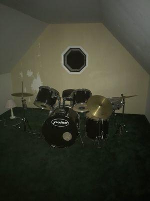 Pulse Drum Set 9 pieces including seat for Sale in Manassas, VA