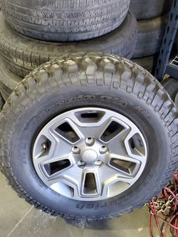 Came Off Of A Wrangler 2016 I Believe One Tire Is Brand New for Sale in San Antonio,  TX